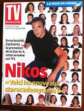 TV Magazine 29/8/2004; Interview Nikos/ La fiction télé/ Vallée d'Aoste