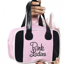 Pink Ladies Bag Official Grease Lady Bowling Bag Fancy Dress Costume Accessory