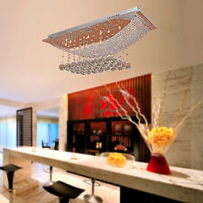 Modern Crystal Pendant Light Ceiling Lamp Lighting Fixture Rain Drop Chandelier