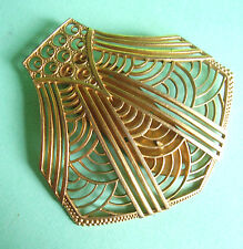 J50 / BROCHE CLIPS DE REVERS 1930 EN METAL DORE