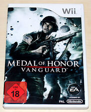 Medal of Honor Vanguard-completo con manual-Nintendo Wii-FSK 18
