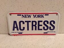 ACTRESS Mini New York License Plate - NYC Souvenir - Red, White, and Blue 1991