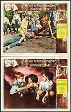 "Poster 2 Lobby Cards To Kill a Mockingbird 1963 Autographed 11""x14"" NM 9.0"