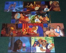 WALT DISNEY BEAUTY AND THE BEAST 1991 ORIGINAL GERMAN LOBBY CARD SET OF 10