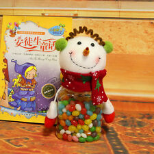 Santa Claus Snowman Elk Christmas Candy Packaging PET Christmas Candy Jar Xmas