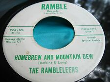Hear Rare Bopper 45 : The Rambleleers ~ Homebrew And Mountain Dew ~ Ramble 126