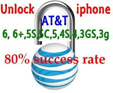 AT&T iphone unlock factory permanent service code, iphone 4S, 5, 5C, 5S, 6, 6+,