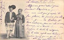 CPA 44 BOURG DE BATZ JEUNES MARIES  (dos non divisé)