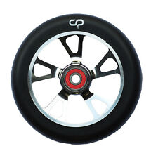 Crisp 125mm Drilled Alloy Core Wheel Titanium / Black PU
