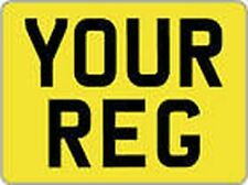 11 X 8 TRAILER OR 4X4 OR CARAVAN YELLOW NUMBER PLATE Buy it Now ! £8.50 Each