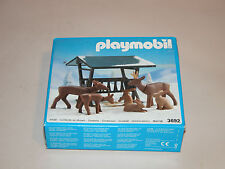 PLAYMOBIL 3692 REINDEER AND WILD GAME FEEDER 1991 GERMANY