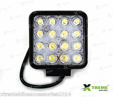 16 Cree LED 48w Fog DRL Off Road SUV Bar Light For Mahindra Thar