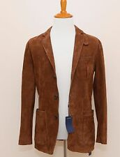 NEW Polo Ralph Lauren Brown Suede Leather Jacket Sportcoat 38R Small Medium