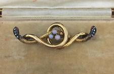 Un insolito bidirezionale Diamante Serpente & Opale BAR Spilla circa anni 1800
