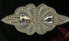 beautiful Crystal Rhinestone Applique Sewing Iron on bridal patch