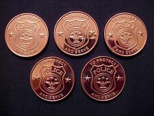 Police Copper Round Coin(5 Coins)