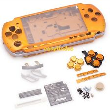 for PSP 3000 Slim Full Housing Shell Case cover shield ud door yellow gold screw