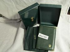 Original Rolex Leather Passport Holder Wallet with outer box * NOS*