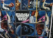 STAR WARS CHARACTER PATCH FLEECE  FABRIC   54X59 INCHES    1.5 YARDS