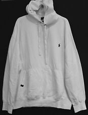 Polo Ralph Lauren Big and Tall Mens White Performance Hoodie Sweatshirt NWT 4XLT