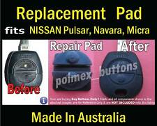 fits Nissan Pulsar Patrol Micra remote key - Repair Silicone key Pads (2 sets)
