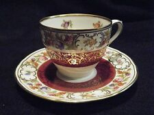 Beautiful Cup and Saucer Porcelain China Florals with Gold Bavaria Germany
