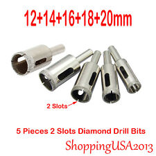5 pcs 12-20mm Diamond Coated tool drill bit hole saw set glass ceramic marb
