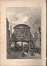 1875 LONDON PRINT ~ TEMPLE BAR IN ITS LAST STAGE
