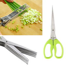 Multifunction 5 blades Scissor Vegetable Chopper Paper Shredder Kitchen Tool