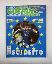 GUERIN SPORTIVO 1997- n. 10 - SCUDETTO - INTER JUVE DERBY D'ITALIA