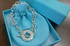 NEW Tiffany & Co. Toggle Chain Bracelet Medium 7.5 Inch Sterling Silver 925