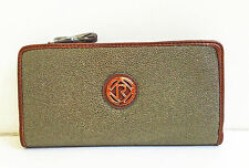 BNWT Authentic RELIC By FOSSIL Heather Checkbook Wallet Clutch Gold $30 FLAW