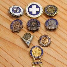 Lot of 9 Vintage Hospital Service & Volunteer Pins & Medals