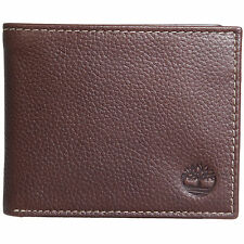 Timberland Men's Flip Up Wallet Genuine Leather ID Card Case Bifold Passcase