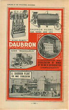 "ADVERTISEMENT "" Mini Poster "" Vineyard Wine Daubron Equipment Paris Champagne"