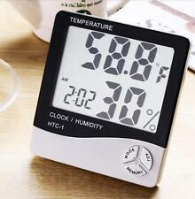 4 IN 1 LCD Digital Alarm Clock Thermometer temperature Humidity Moisture Meter