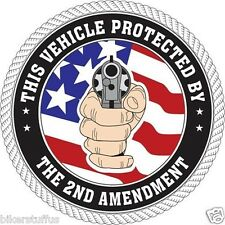 THIS VEHICLE PROTECTED BY 2ND AMENDMENT STICKER