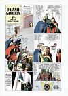 1937 ALEX RAYMOND FLASH GORDON ORIGINAL COLOR PROOF COMIC PAGE PRODUCTION ART
