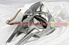 Steel Roman Gladiator Helmet Face Mask Hand Forged MF Doom Medieval Party Prop