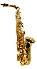 NEW  BRASS ALTO SAXOPHONE SAX W/CASE.APPROVED+ WARRANTY.
