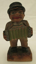 Vintage ANRI Hand Crafted Figurine - Man Playing Accordian