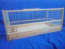 For Quail, Rodent, Small Animal /  Wooden Quail Cage, Plexiglas, Slide Out Tray