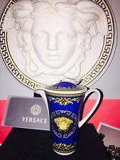 VERSACE MEDUSA BLUE COFFEE POT ROSENTHAL SMALL New Authentic SALE
