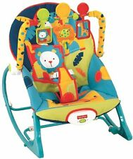 Fisher-Price Infant To Toddler Rocker Baby Chair Portable , Dark Safari