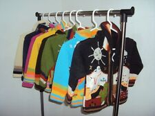 10 Arpillera sweaters for kids, with details handmade, acrylic, cardigan