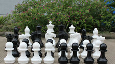 "Giant Plastic Chess Set with a 16"" King - Garden Chess Set - Outdoor Chess Set"