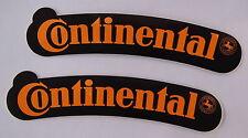 2 Stück Aufkleber CONTINENTAL Reifen Motorrad Fender Kotflügel 80er Sticker
