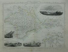 1858 map of 'The Crimea' by John Tallis, John Rapkin,