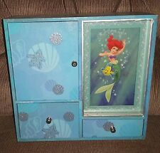 Disney ARIEL The Little Mermaid Jewelry Case Music Box Swimming Flounder Drawers