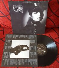 JANET JACKSON **Rhythm Nation 1814** ORIGINAL 1989 Spain LP w/ INSERT